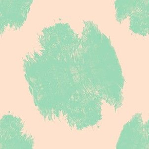 mint and peach branches