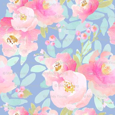 Plush Pink Florals Lavender C