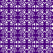 AZTEC ABSTRACT Purple