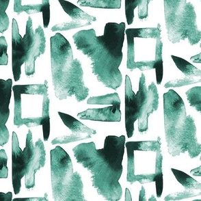 Watercolor Abstract Dabs Green Forrest_Miss Chiffdesigns