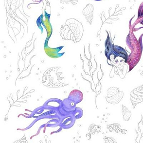 Mermaids Pattern