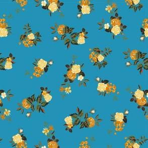 Ditsy Rose - Blue