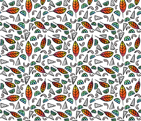 Phoenix Feathers, Mermaid Scales, Unicorn Horns, and Dragon Claws fabric by erin_karr on Spoonflower - custom fabric