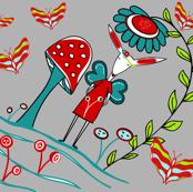 Sprite_Fairy_Girl inktense watercolor pencils sewindigo