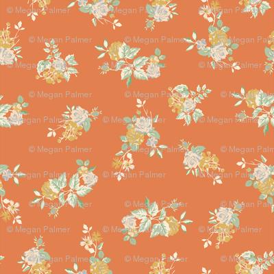 Ditsy Rose - Orange