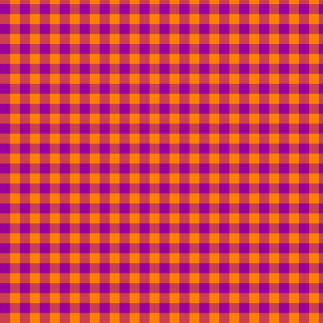 bright purple and India orange gingham fabric by weavingmajor on Spoonflower - custom fabric
