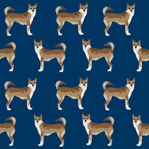 norwegian lundehund dogs dog breed fabric dogs fabric norwegian puffin dog - navy