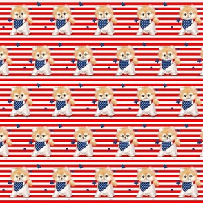 Patriotic Pomeranian Stripes S