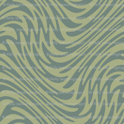 Bayeux feather swirl - sage green
