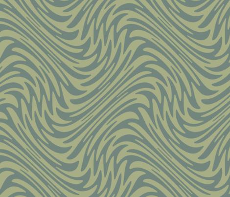 Bayeux feather swirl - sage green fabric by weavingmajor on Spoonflower - custom fabric