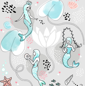 Mermaids and Water Lilies