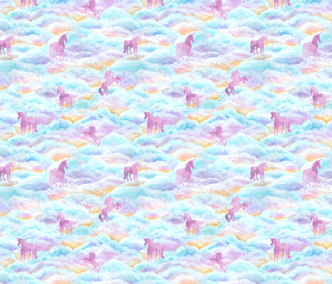 Unicorns - Small Scale fabric by byre_wilde on Spoonflower - custom fabric