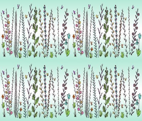 Field of Flowers 2 fabric by sadulskyart on Spoonflower - custom fabric