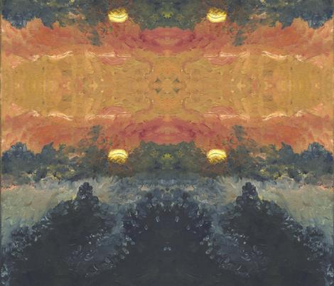 Mountain Sunset fabric by sleepygiraffe on Spoonflower - custom fabric