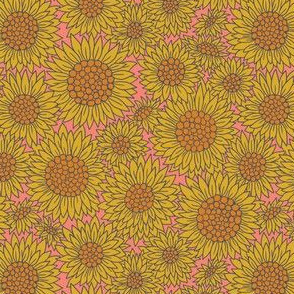 Farmhouse Sunflowers | Pink