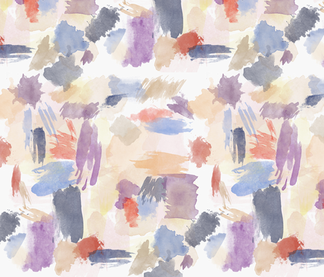 Watercolor strokes fabric by dahliabunny on Spoonflower - custom fabric