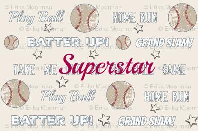 vintage cream worn  baseball  SUPERSTAR-  SMALL452