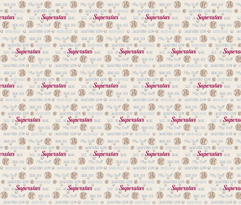 vintage cream worn  baseball  SUPERSTAR-  SMALL452  fabric by drapestudio on Spoonflower - custom fabric
