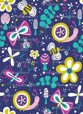 Happy Critters - Blue / Purple