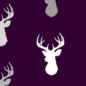 Deer- Plum and Grey