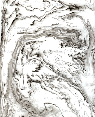 Suminagashi Marble
