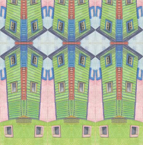 Green Wall fabric by heather_bird_fabrics on Spoonflower - custom fabric