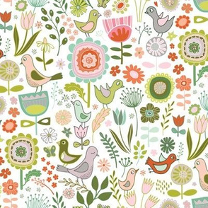 Birds & Blooms - Springtime - medium-small