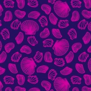Seashells (pink on purple)