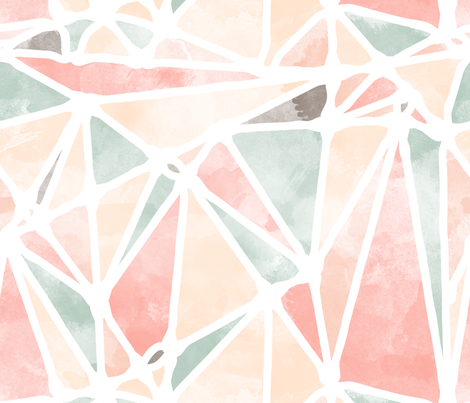 Abstract Watercolor Triangles fabric by digidivagraphics on Spoonflower - custom fabric
