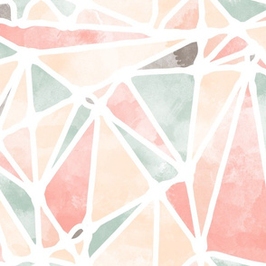 Abstract Watercolor Triangles