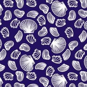 Seashells (white on purple)