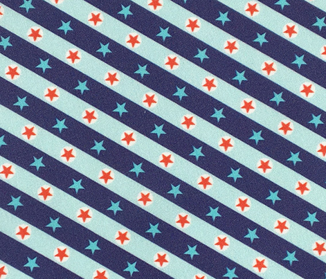 Stars & Stripes* (Jackie Blue) || geometric circles plaid diagonal polka dots patriotic red white blue July 4th Independence Day carnival circus state fair amusement park bunting