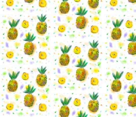 Pineapple loops fabric by dom_dum on Spoonflower - custom fabric