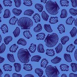 Seashell (purple on mid blue)