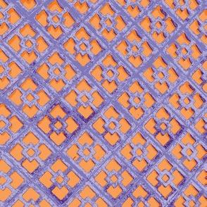 Decorative Cinderblocks - orange and lavender