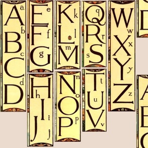 Walter Crane Alphabet Panels