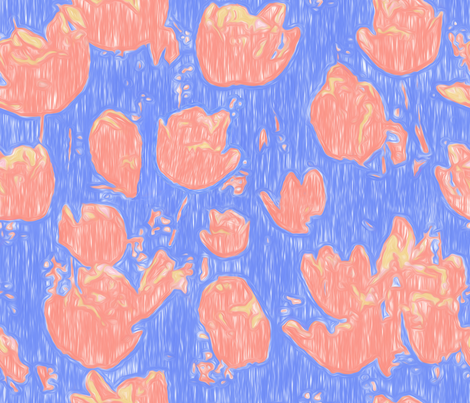 Abstract_Tulips fabric by piper_&_paige on Spoonflower - custom fabric