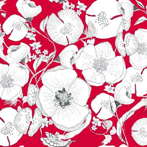 Whimsical Garden Red