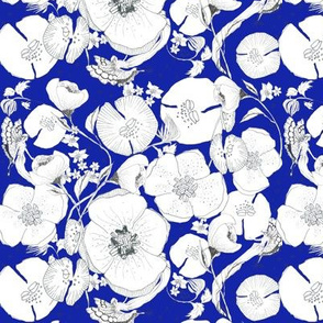 Whimsical Garden Navy