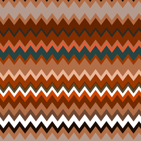 Zigzag Browns fabric by eclectic_house on Spoonflower - custom fabric