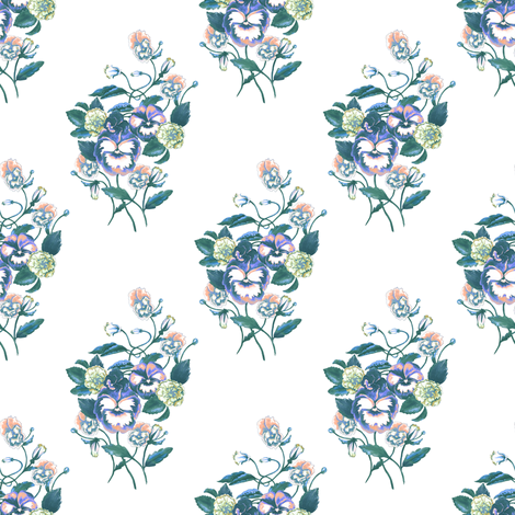 Pansy Purple_Retro Colors fabric by thistleandfox on Spoonflower - custom fabric