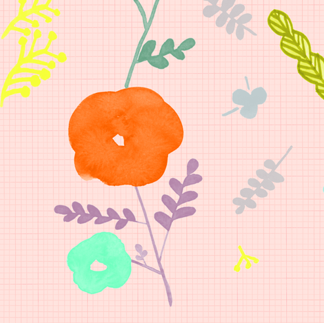 Oh, Girl~! mysterious rose_Hint of pink fabric by veenydreamed on Spoonflower - custom fabric