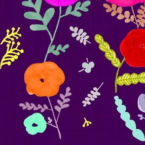 Oh, girl~! mysterious rose in dark purple