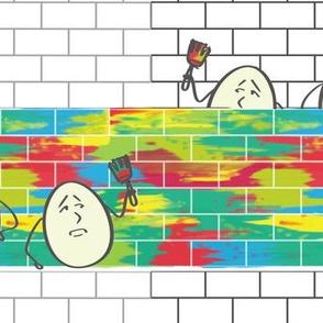 Tweedledum + Tweedledee agreed to paint a wall by Su_G