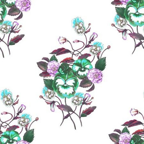 Pansy Turquoise Green_Lilac_Aqua_White