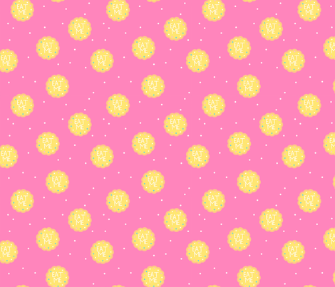 Alice in Wonderland Eat Me - Yellow fabric by how-store on Spoonflower - custom fabric
