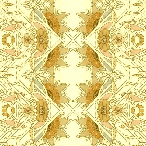 Zig Zag Peek A Boo Sunflower Morning fabric by edsel2084 on Spoonflower - custom fabric