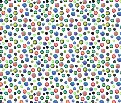 Watercolor colored multicolor circles fabric by graphicsdish on Spoonflower - custom fabric
