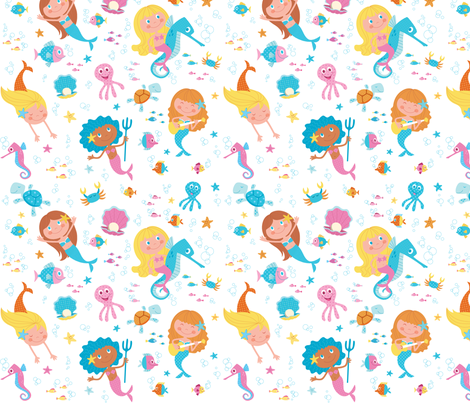 MERMAIDS fabric by crixtina on Spoonflower - custom fabric