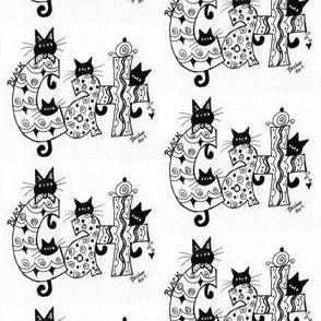 Black Cat Word Doodle